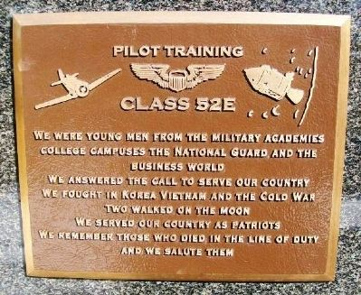 Pilot Training Class 52E Marker image. Click for full size.