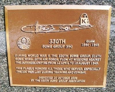 330th Bomb Group (VH) Marker image. Click for full size.