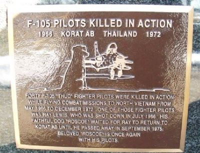 F-105 Pilots Killed in Action Marker image. Click for full size.