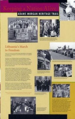 Lithuania's March to Freedom Marker image. Click for full size.