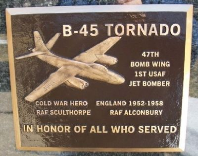 B-45 Tornado Marker image. Click for full size.