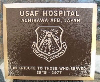 USAF Hospital Marker image. Click for full size.