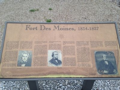 The First Fort Des Moines Marker image. Click for full size.