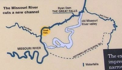 Map of the Old Missouri River Valley and the New Channel image. Click for full size.