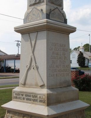 To Our Confederate Soldiers Monument image. Click for full size.