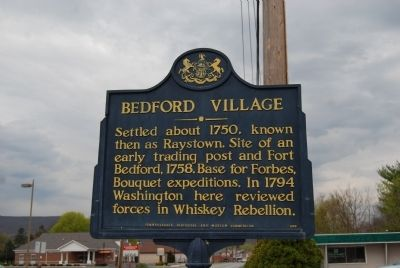 Bedford Village Marker image. Click for full size.