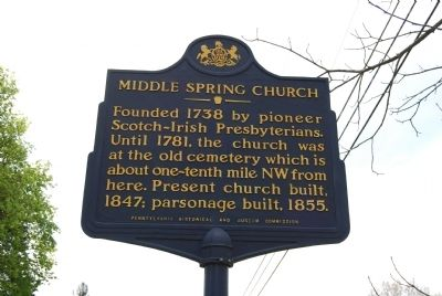 Middle Spring Church Marker image. Click for full size.