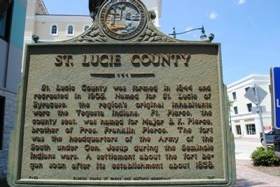 St. Lucie County Marker image. Click for full size.