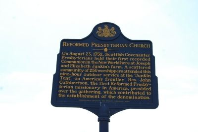 Reformed Presbyterian Church Marker image. Click for full size.