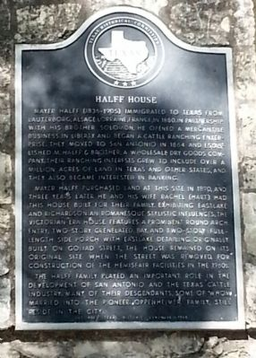 Halff House Marker image. Click for full size.