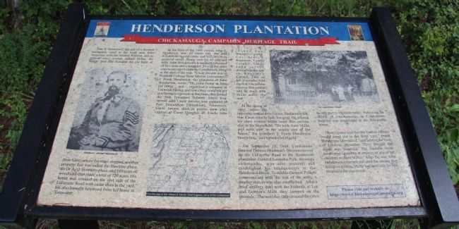 Henderson Plantation Marker image. Click for full size.