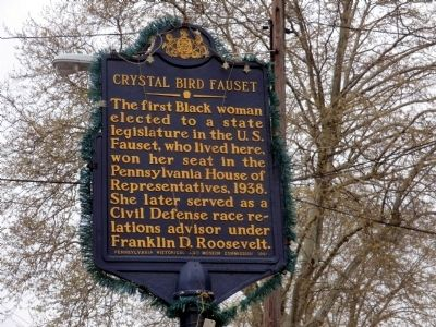 Crystal Bird Fauset Marker image. Click for full size.
