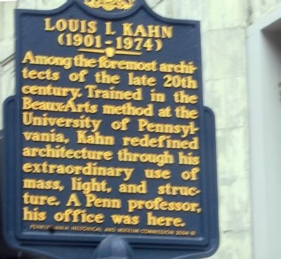 Louis I. Kahn Marker image. Click for full size.
