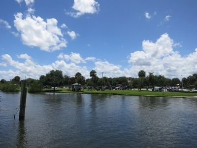 Pentoaya Marker and Ballard Park from Across the Eau Gallie River image. Click for full size.