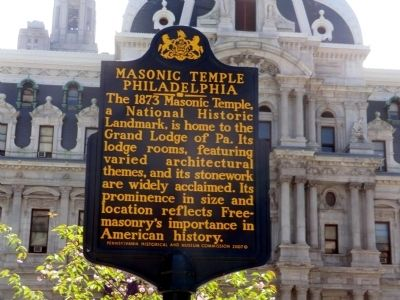Masonic Temple Philadelphia Marker image. Click for full size.