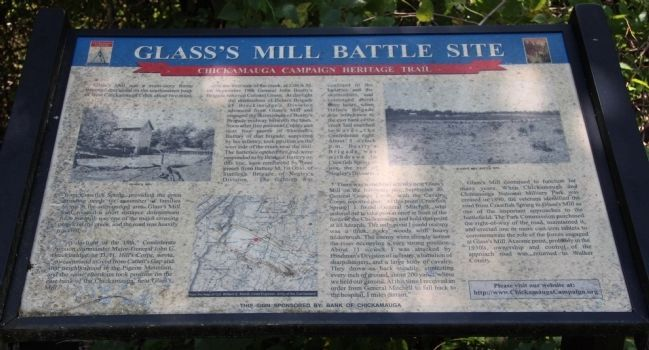 Glass's Mill Battle Site Marker image. Click for full size.