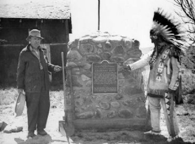 Dedication of the Arapahoe City Marker image. Click for full size.