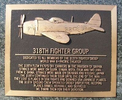 318th Fighter Group Marker image. Click for full size.