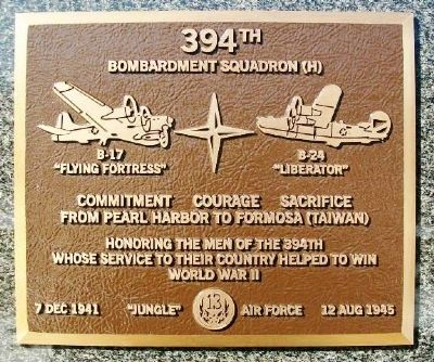 394th Bombardment Squadron (H) Marker image. Click for full size.