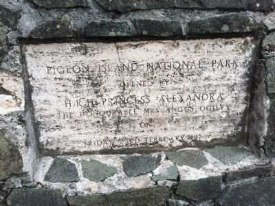 Additional marker on the opening of Pigeon Island National Park image. Click for full size.