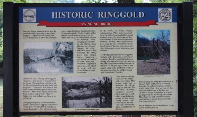 Historic Ringgold Marker image. Click for full size.