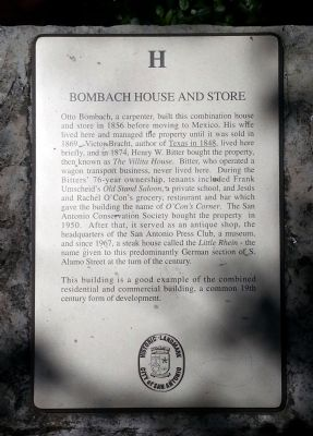Bombach House and Store Marker image. Click for full size.