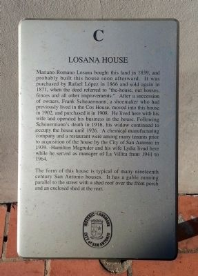 Losana House Marker image. Click for full size.
