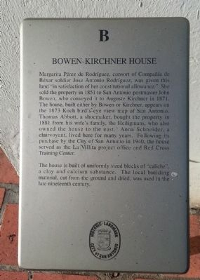 Bowen-Kirchner House Marker image. Click for full size.