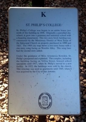 St. Philip's College Marker image. Click for full size.