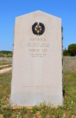 Hayrick Marker image. Click for full size.