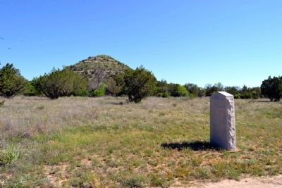 Hayrick Marker and Hayrick Mountain image. Click for full size.