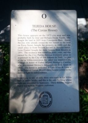 Tejada House Marker image. Click for full size.