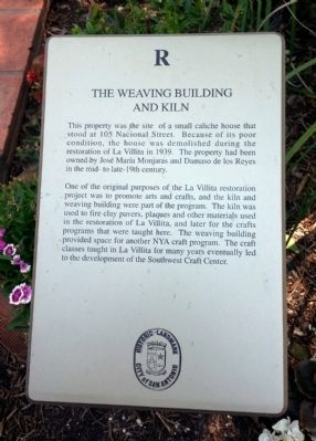 The Weaving Building And Kiln Marker image. Click for full size.