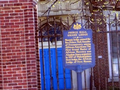 Prince Hall Grand Lodge Marker image. Click for full size.