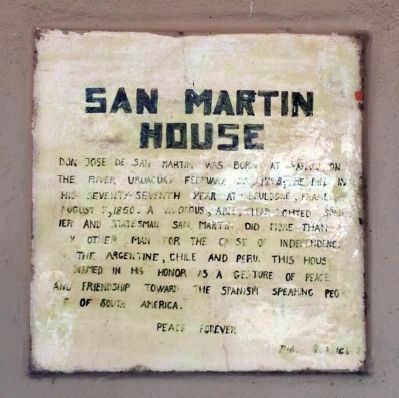 San Martin House image. Click for full size.