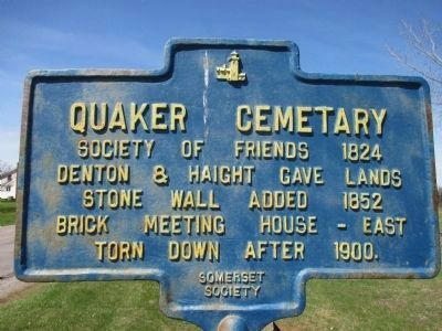 Quaker Cemetary Marker image. Click for full size.