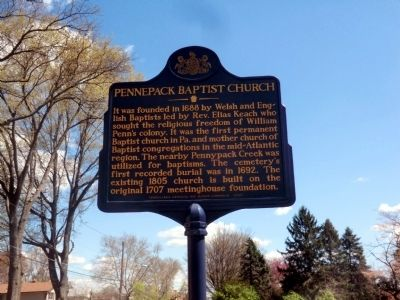 Pennepack Baptist Church Marker image. Click for full size.