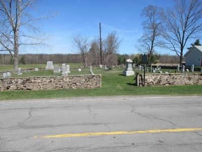 Quaker Cemetery & Marker image. Click for full size.