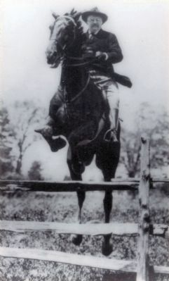 President Theodore Roosevelt Jumping. image. Click for full size.