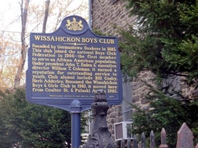 Wissahickon Boys Club Marker image. Click for full size.