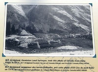 Oil City as Viewed from Ruby Ridge, 1914 image. Click for full size.