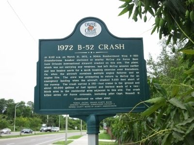 1972 B-52 Crash Marker Front image. Click for full size.