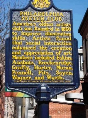 Philadelphia Sketch Club Marker image. Click for full size.