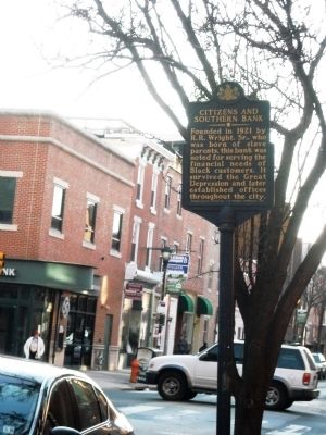 Citizens and Southern Bank Marker image. Click for full size.