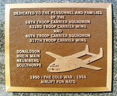 40th & 68th Troop Carrier Squadrons Marker image. Click for full size.
