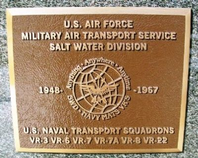 USAF MATS Salt Water Division and USN Transport Squadrons Marker image. Click for full size.