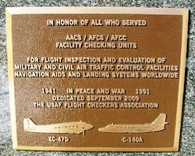 AACS / AFCS / AFCC Facility Checking Units Marker image. Click for full size.