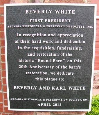 Beverly and Karl White Marker image. Click for full size.