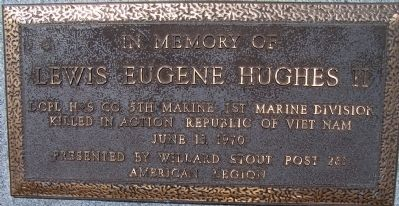 LCPL Lewis E. Hughes II Marker image. Click for full size.