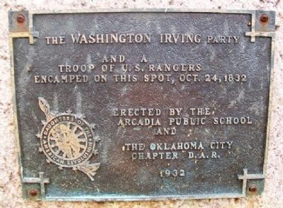 Washington Irving's Camp Marker image. Click for full size.
